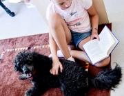 003 Skaitymai šuniukui stovyklos dalyviams paliko ypatingus prisiminimus tai tarsi abipusė emocinė terapija.