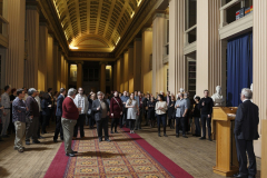 Konferencijos dalyviai Edinburgo universiteto senosios bibliotekos salėje (2)